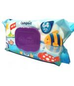 Compact салфетки влажные для детей, Рыбка, 64шт (31539)
