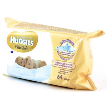 Huggies new born влажные салфетки для детей, 64 шт (34725)
