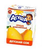 Агуша сок (груша осветленный) 4 месяцев 0,2 л (25129)
