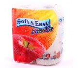 Soft & Easy кухонные полотенца, 2 рулона, 2 слоя (00133)