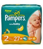 Pampers new baby #2 подгузники, 3-6 кг, 27шт (37397)