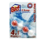 Bref сила актив туалетные блоки для унитаза, с хлор-компонентом, 1шт x 4 шарика (87485)
