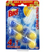 Bref сила актив лимонная свежесть чистящее средство, туалетные блоки для унитаза, 2шт x 4 шарика (56832)