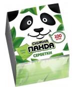 Снежная Панда сухие кухонные салфетки (зеленые) 1 слой 100 шт (09101)