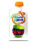 Фруто Няня десерт (яблоко, вишня, рябина черноплодная и черная смородина) 5+ месяцев 90гр (06581)