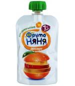 Фруто Няня десерт (яблоко, банан, апельсин, манго) 7+ месяцев 90гр (06567)