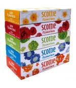 Scottie flowerbox универсальные гигиенические платочки в ассортименте (2 слоя) 160 шт (12562)