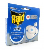 Raid таблетки для электрофумигатора (30 ночей) 1 шт (30049)