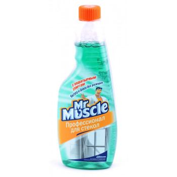 Mr Muscle средство для мытья стекол, с нашатырным спиртом, запаска, 500мл (00160)