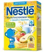 Nestle каша мультизлаковая, с грушей и персиком, с 6 месяцев, 220гр (31283)
