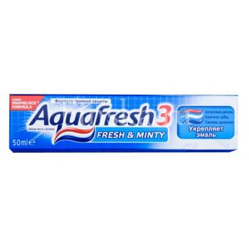 Aquafresh зубная паста Освежающе-мятная, 125мл (62407)