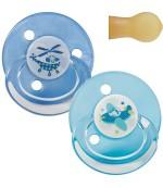 Baby Nova пустышки круглые с рисунком и кольцом, для девочка 0+18 месяцев 2шт (23360) 61105