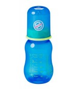 Baby Nova пластиковая бутылочка, с круглой силиконовой соской, 1 капля, для мальчика, 0+ месяцев, 125мл (40105) 01051