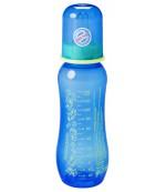 Baby Nova пластиковая бутылочка, с круглой силиконовой соской, 1 капля, для мальчика, 0+ месяцев, 250мл (42105) 21059
