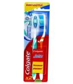Colgate зубные щетки, средней жесткости Тройное действие, 2 шт (07767)