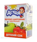 Агуша сок (яблоко-шиповник осветленный) 5 месяцев 0,2л (16790)