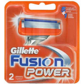 Gillette Fusion Power, сменные кассеты, 2шт (77560)