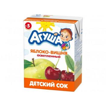 Агуша сок (яблоко-вишня осветленный) 5 месяцев 0,2л (16806)