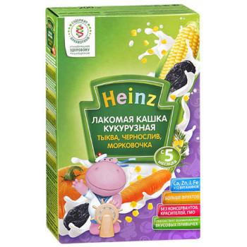 Heinz Лакомая каша кукурузная, тыква, чернослив, морковочка, с 5 месяцев, 200гр (01404)