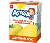 Агуша сок (яблоко-груша осветленный) 4 месяцев 0,2л (25082)