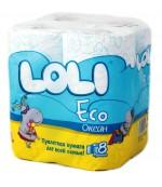 Loli Super Soft туалетная бумага, океан, 8 рулонов, 2 слоя, 150 отрывов в рулоне (00115)