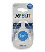 Philips AVENT силиконовые соски для бутылок серии Classic, 3 отверстия-средний поток, 3+месяцев, 2шт (scf633/27) (10887)