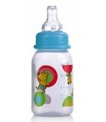 Nuby пластиковая бутылочка со стандартным горлышком, с круглой силиконовой соской, вариационный поток, 0-12 месяцев, 240мл, 1шт (1160)(1486) (11605)