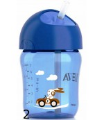 Philips AVENT поильник, с трубочкой для синий, 12+ месяцев, 260мл, 1шт (scf760/00) (40663)