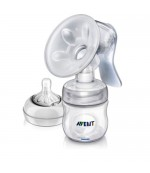 Philips AVENT Natural молокоотсос ручной+бутылочка с соской, 1 капля - медленный поток, 0+ месяцев (scf330/20) (65765)