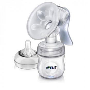 Philips AVENT Natural молокоотсос ручной+бутылочка с соской, 1 капля - медленный поток, 0+ месяцев (scf330/20) (scf330/30) (65765)