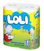 Loli Eco бумажные полотенца, 2 слоя, 2 рулона (00153)