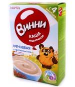 Винни каша молочная, гречка, с пребиотиками, с 4 месяцев, 220гр (04633)