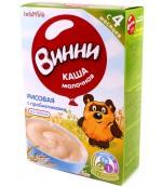 Винни каша молочная, рисовая, с пребиотиками, с 4 месяцев, 220гр (04640)