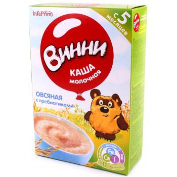 Винни каша молочная, овсяная, с пребиотиками, с 5 месяцев, 220гр (04657)