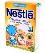 Nestle каша молочная, овсяная с кусочками груши, с 8 месяцев, 220гр (31344)