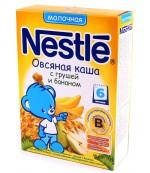 Nestle каша молочная, овсяная груша,банан, с 6 месяцев, 220гр (31207)