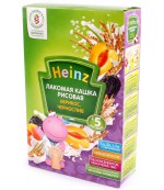 Heinz Лакомая каша рисовая, абрикос, чернослив, с 5 месяцев, 200гр (01428)