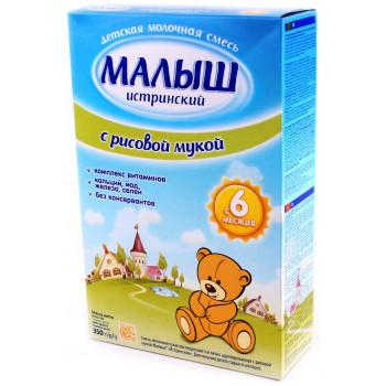 Малыш истринский сухая смесь с рисовой мукой, с 6 месяцев, 350г (07945)
