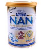 Nestle NAN сухая смесь гипоаллергенный, #2, с 6-12 месяцев, 400г (51742)