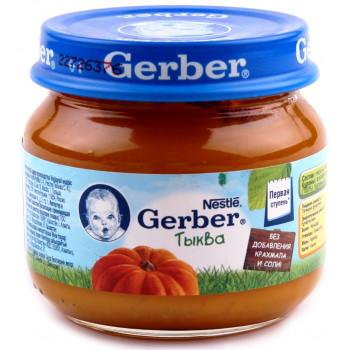 Gerber пюре, тыква,  с 5 месяцев, 80гр (78440)
