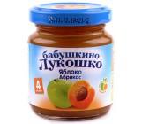Бабушкино Лукошко пюре фруктовое, яблоко, абрикос, с 4 месяцев, 100гр (02094)
