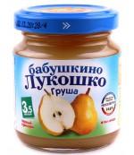Бабушкино Лукошко пюре фруктовое (груша) 3,5 месяцев 100гр (02223)