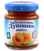 Бабушкино Лукошко пюре фруктовое (абрикос) 4 месяцев 100гр  (02087)