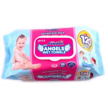 Compact салфетки влажные, Ангелы, 120шт (32789)