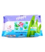 Happy салфетки влажные для детей, Sensetive Aloe Vera, 56 шт (21151)
