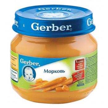 Gerber пюре, морковь, с 4 месяцев, 80гр (78426)