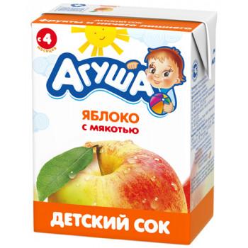 Агуша сок (яблоко с мякотью) 4 месяцев 0,2 л (03005)