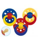 Baby Nova пустышки латексные круглые с кольцом, для мальчика, 0+18 месяцев, 2шт (23500) 35007