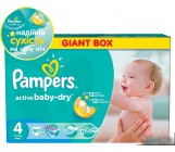 Pampers active baby dry #4 подгузники, 9 -14 кг, 90шт (37070)