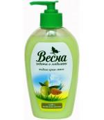 Весна жидкое мыло Олива и Миндальное молочко, 280мл (11521)